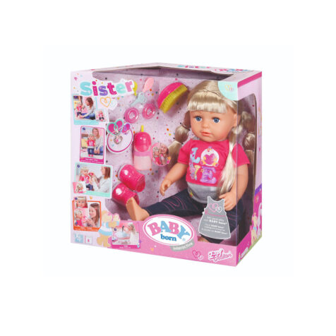 Zapf Creation-Baby Born Sister Interactive Doll 43 CM