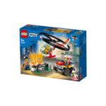 კუბიკები 93 ერთეული Fire Helicopter Response City Lego