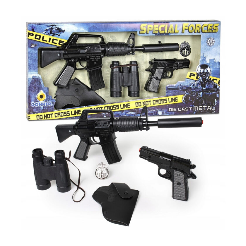 Gonher-Police 8 Shots Playset