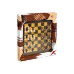 ჭადრაკი ხის დაფითა და პლასტმასის აქსესუარებით Cayro