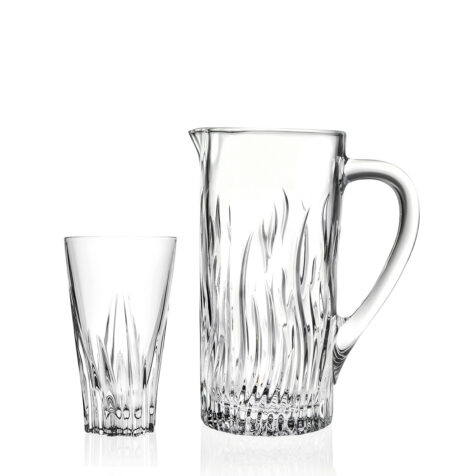 RCR Fluente Drink Set 1*7 Jug1.2L+Tumblers 400ml