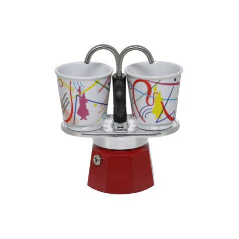Bialetti Mini Express Kandinsky Espresso Maker With Cups 1x2