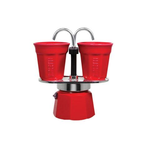 Bialetti Mini Express Espresso Maker With Cups 1x2
