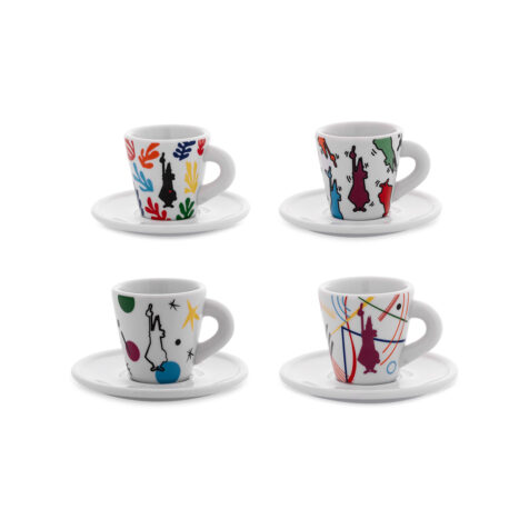Bialetti Art Cups With Saucers 1x4 60 ML