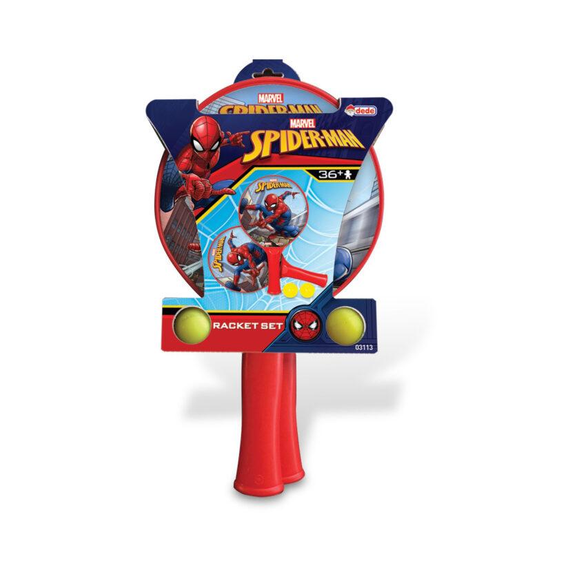 Dede-Marvel Spider Man Racket Set WithTwo Balls 39x22 CM