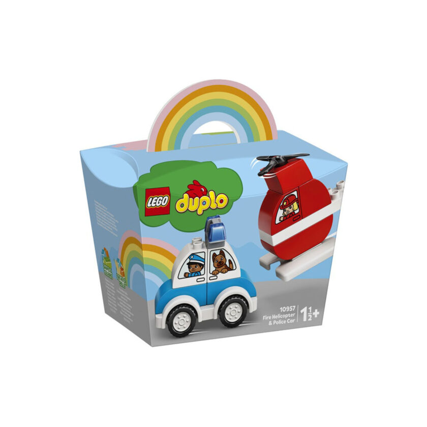 Lego-Duplo Fire Helicopter & Police Car 14 Pieces