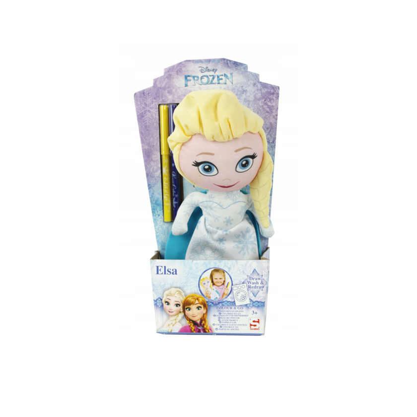 Sambro-Disney Frozen Elsa Coloring Doll With Markers 30 CM