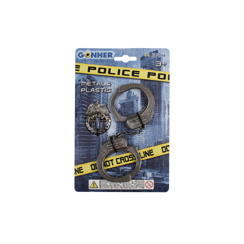 Gonher Police Handcuffs & Badge
