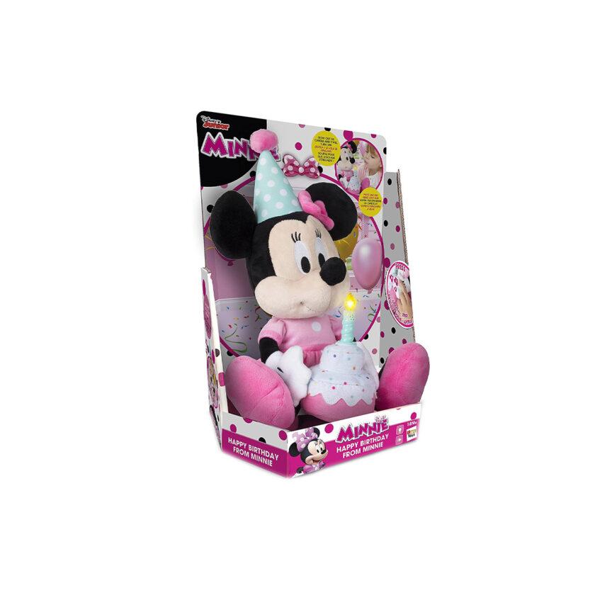 IMC Toys-Disney Minnie Happy Birthday Plush Toy With Sounds 24x34 CM