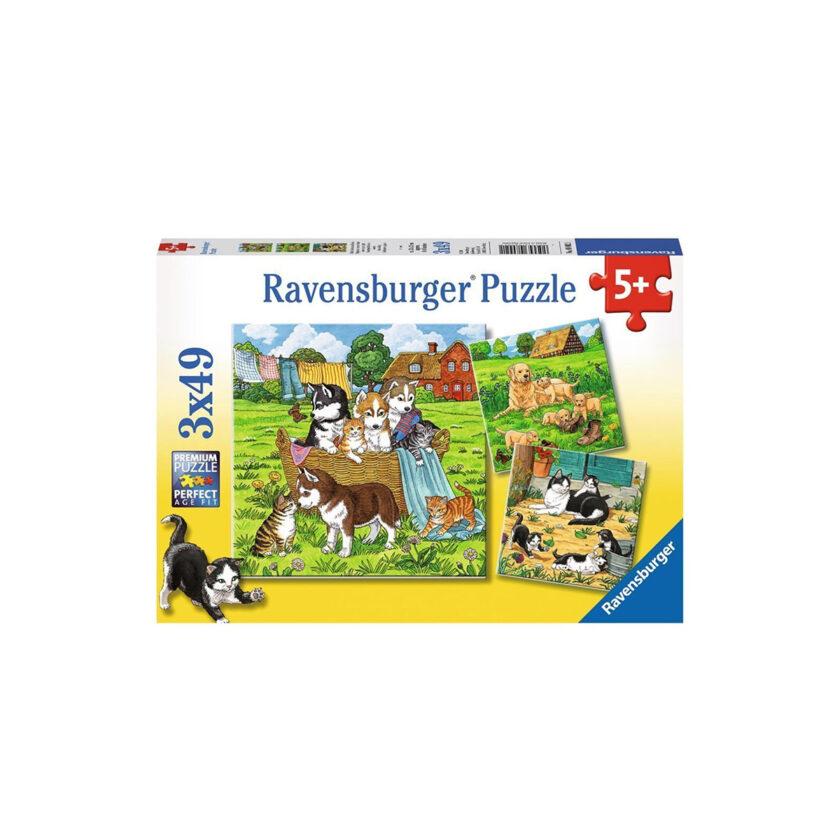 Ravensburger-Puzzle Cats & Dogs 3x49 Pieces