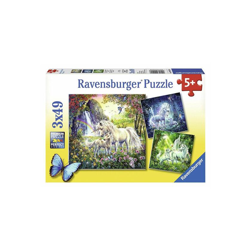 Ravensburger-Puzzle Beautiful Unicorn 3x49 Pieces