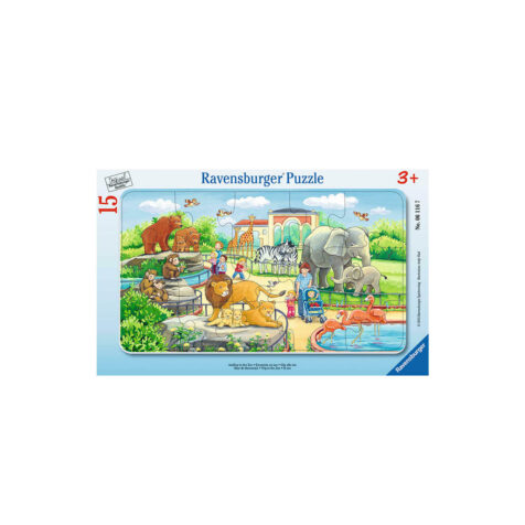 Ravensburger-Trip To The Zoo 15 Pieces 25x14.5 CM