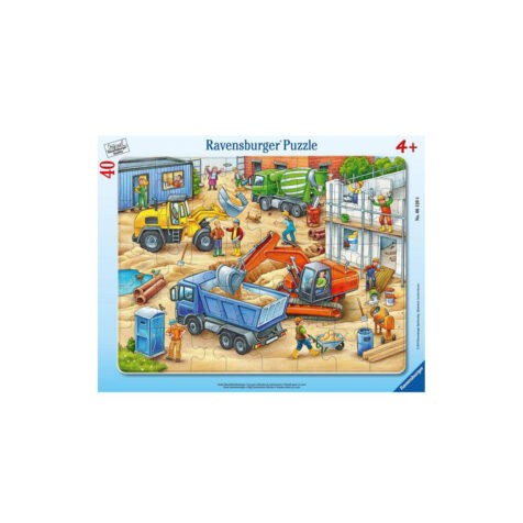 Ravensburger-Large Construction Vehicles Puzzle 40 Pieces 32.5x24.5 CM