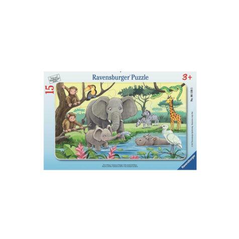 Ravensburger-African Animals Puzzle 15 Pieces 25x14 CM