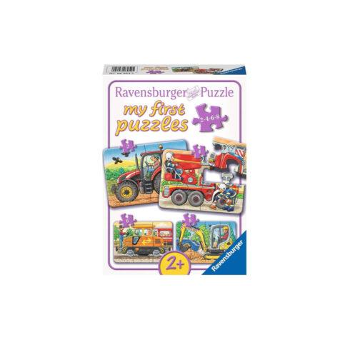 Ravensburger-At Work 1x4 Puzzle 21x15 CM