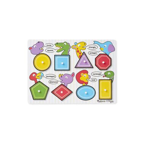 """""""Melissa & Doug-Shapes Peg Puzzle With 8 Pieces """""""