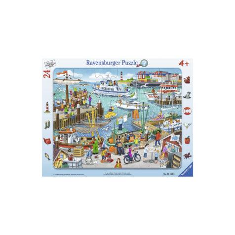 Ravensburger-Day At The Harbour Puzzle 24 Pieces 25x14.5 CM