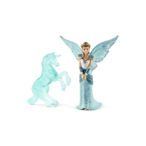 Schleich-Bayala Eyela with Unicorn-Ice-Sculpture Figure Set