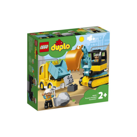 Lego-Duplo Truck & Tracked Excavator 20 Pieces