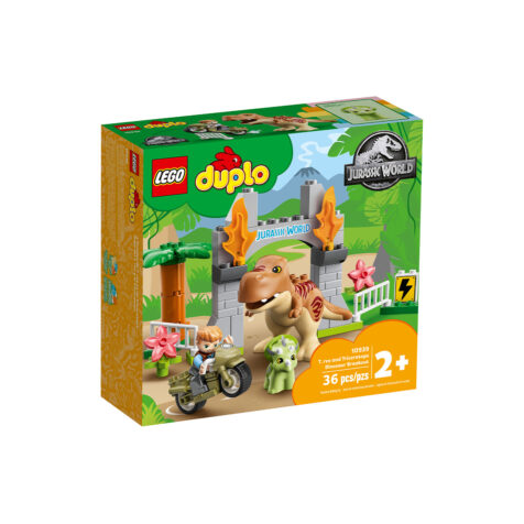 Lego-Duplo T. rex and Triceratops Dinosaur Breakout 36 Pieces