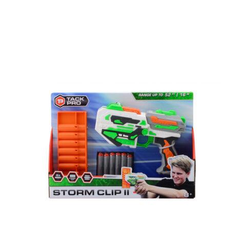Johntoy-Tack Pro Storm Clip II Plastic Pistol With 6 Darts 31 CM