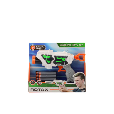 Johntoy-Tack Pro Rotax Plastic Pistol With 6 Darts